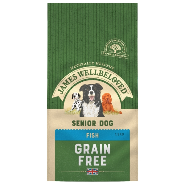 James Wellbeloved Grain Free Senior Dog Food Fish 10kg