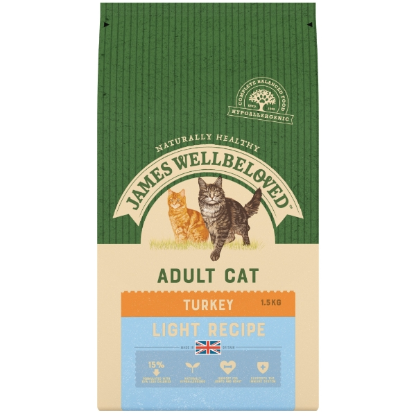 James Wellbeloved Light Cat Food Turkey 4kg