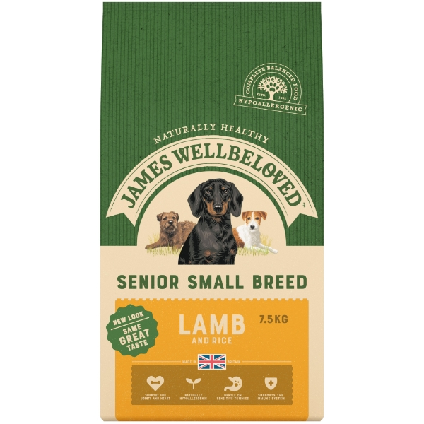James Wellbeloved Senior Small Breed Dog Food Turkey Rice 75kg